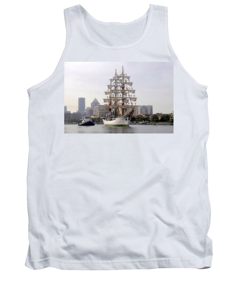 Tampa Florida Tank Top featuring the photograph Cigar City Sailing by David Lee Thompson