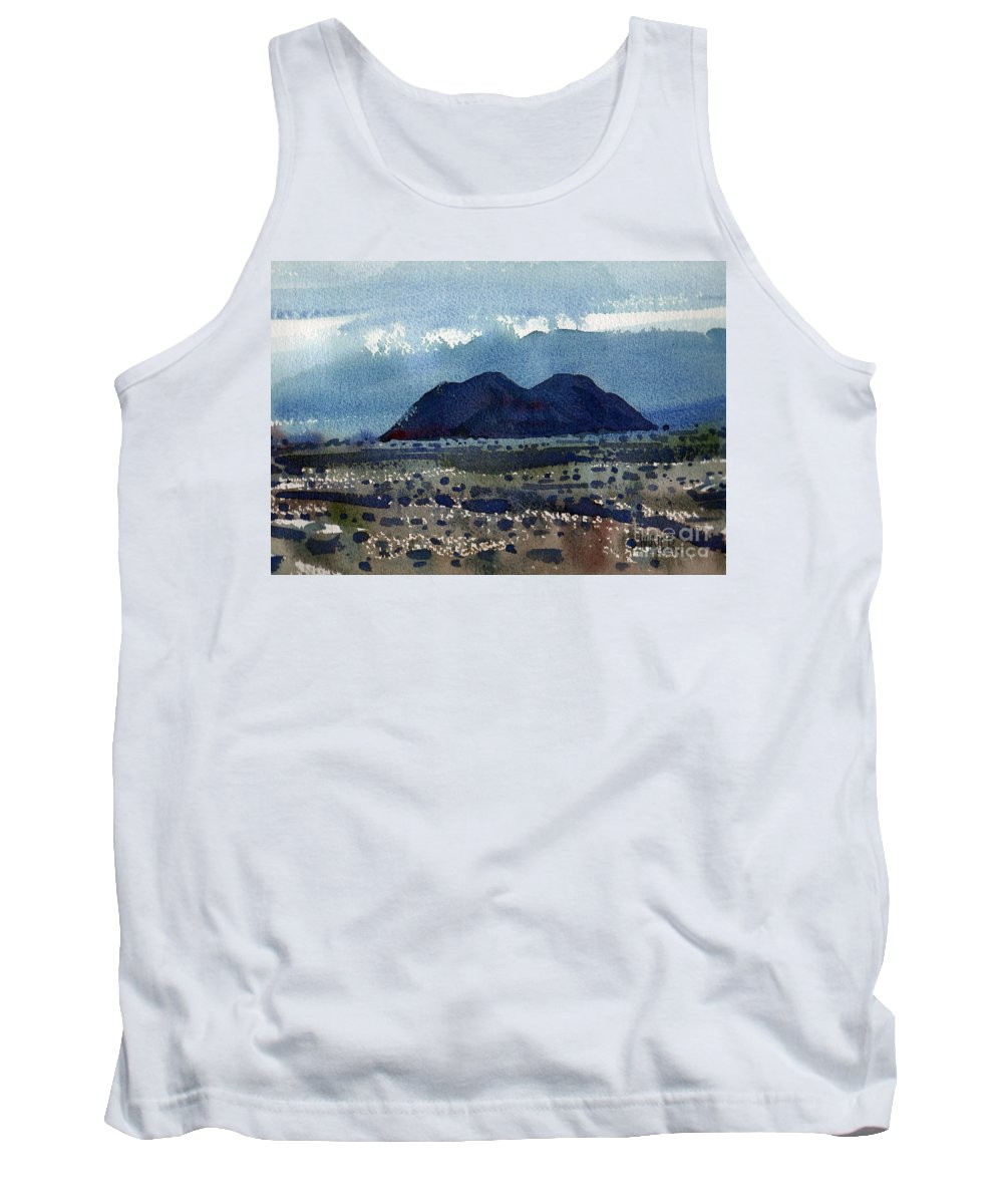 Cinder Cone Tank Top featuring the painting Cinder Cone Death Valley by Donald Maier