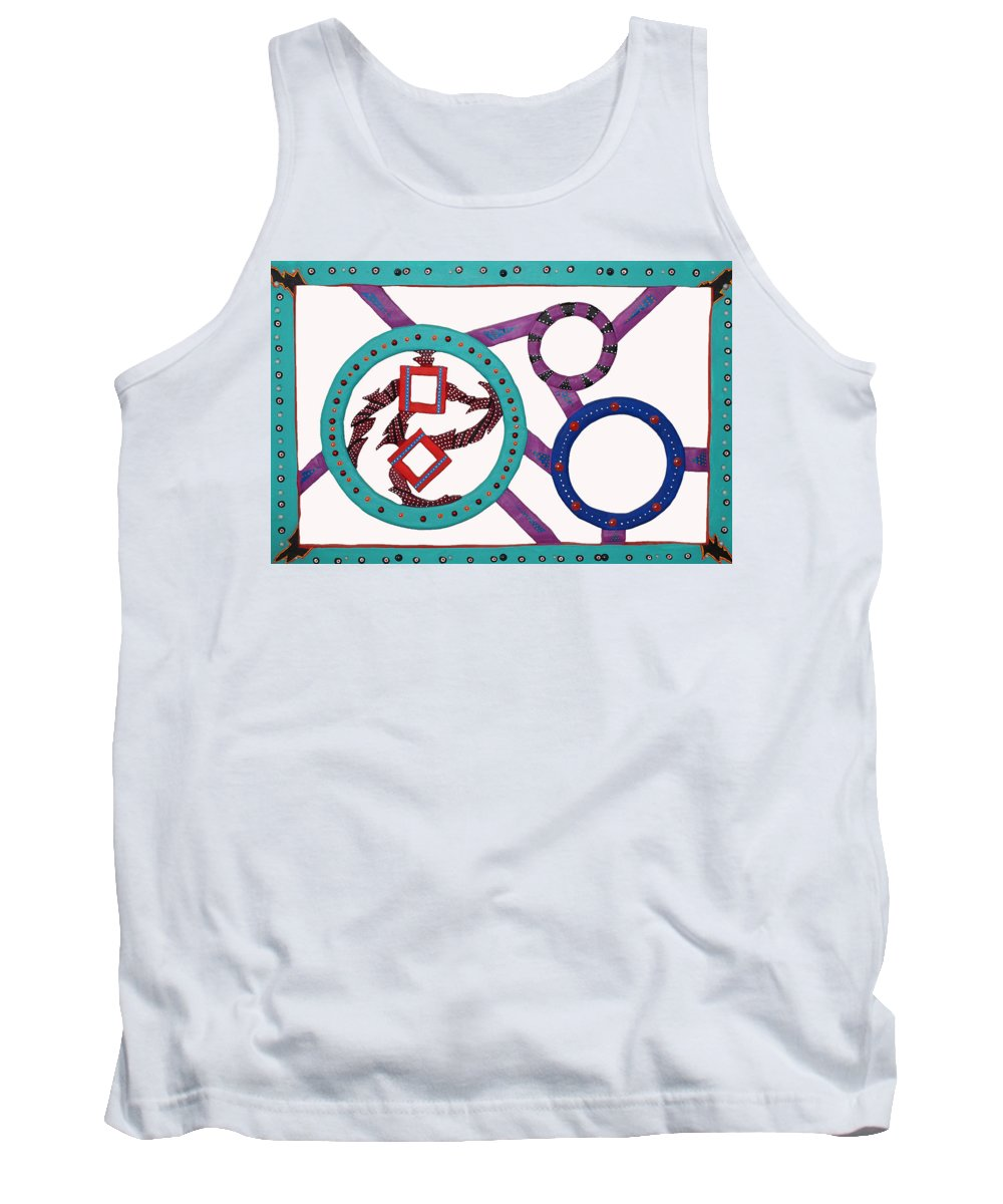 Whimsical Canvas Prints Tank Top featuring the mixed media Circle Time by Robert Margetts