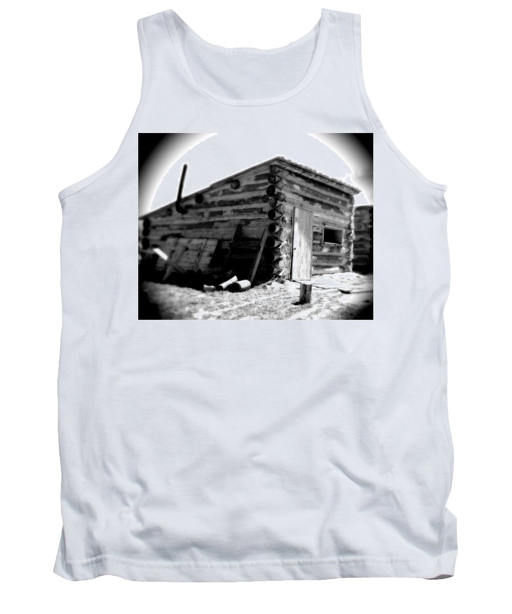Army Tank Top featuring the photograph Civil War Cabin 1 Army Heritage Education Center by Jean Macaluso