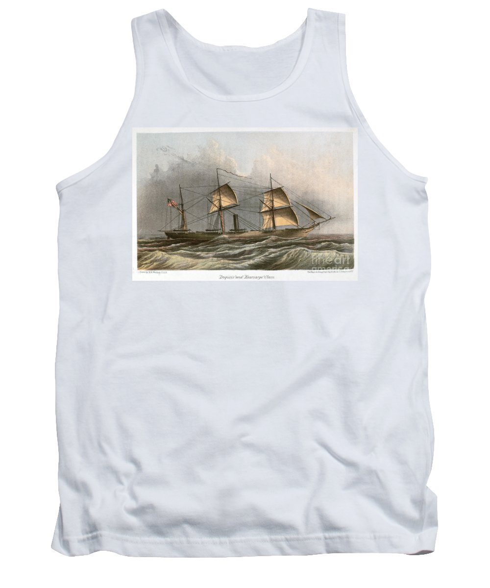 1864 Tank Top featuring the photograph Civil War: Uss Kearsarge by Granger