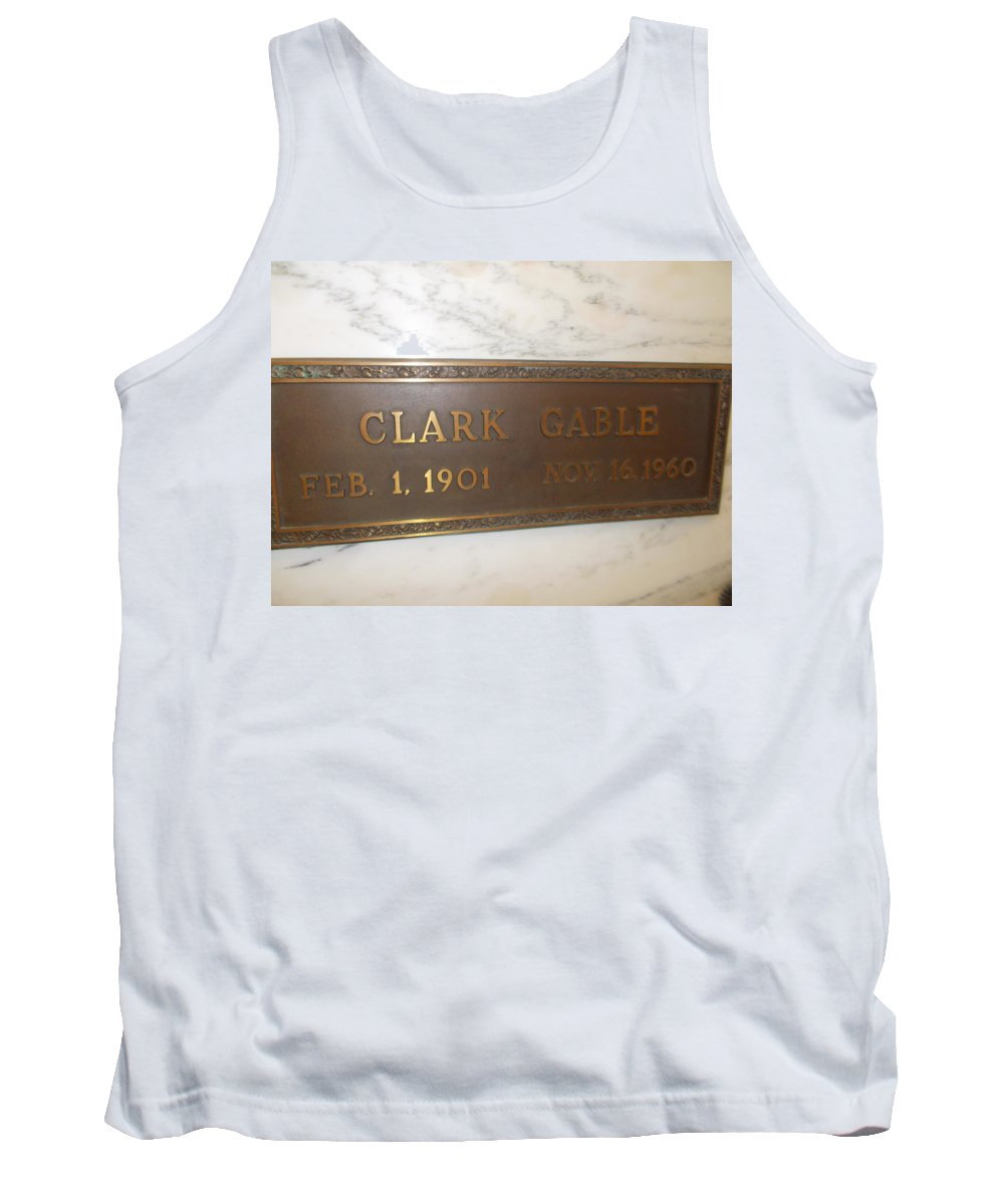 Clark Gable Forest Lawn Clark Gable Final Resting Place Tank Top featuring the photograph Clark Gable by Dawn Wirth