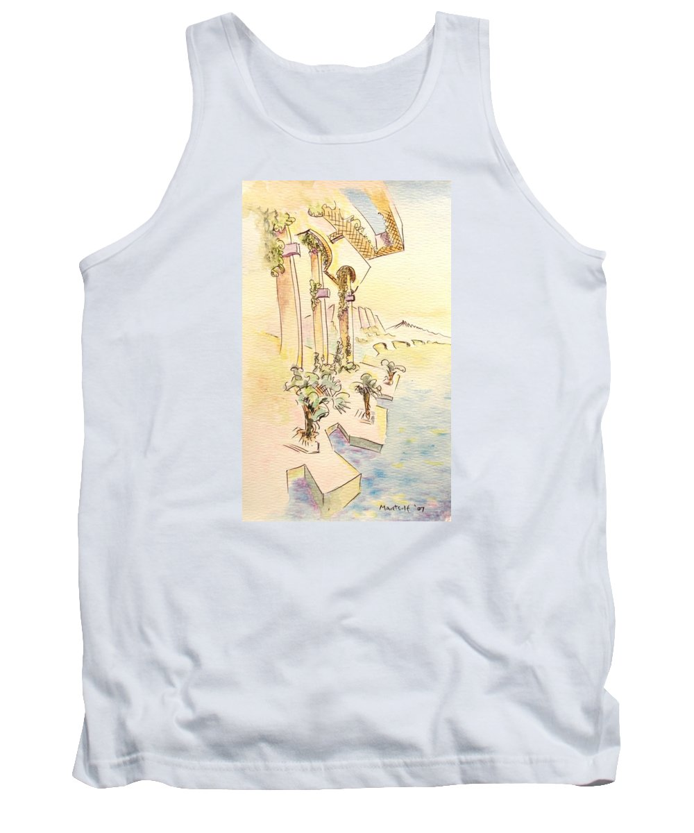 Italian Tank Top featuring the painting Classic Summer Morning by Dave Martsolf