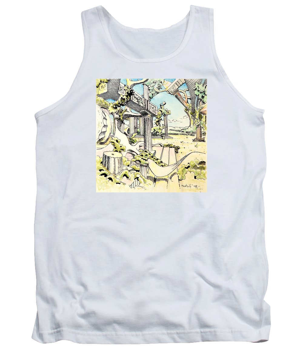 Greek Tank Top featuring the painting Classical Visitation by Dave Martsolf