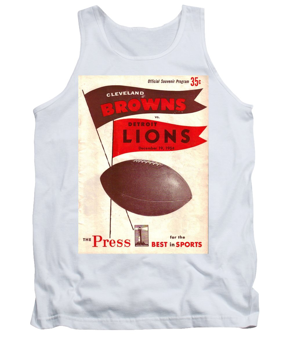 Browns Tank Top featuring the photograph Cleveland Browns Vintage Program 4 by Joe Hamilton
