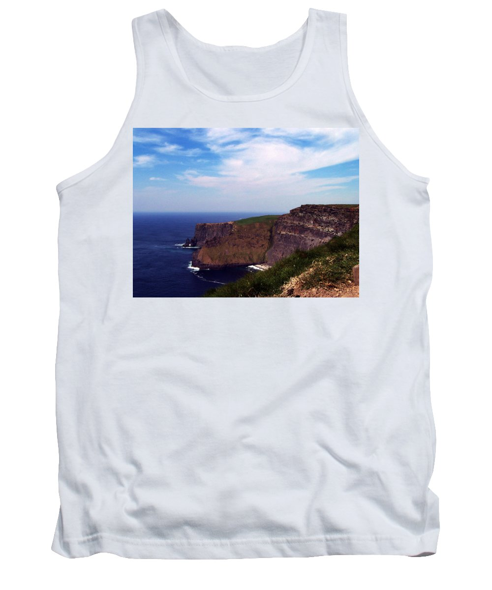 Irish Tank Top featuring the photograph Cliffs Of Moher Aill Na Searrach Ireland by Teresa Mucha