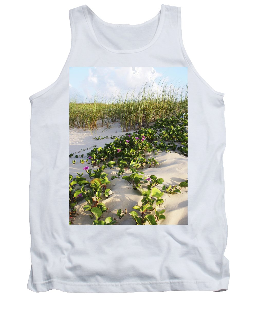 Nature Tank Top featuring the photograph Climbing The Dunes by Marilyn Hunt