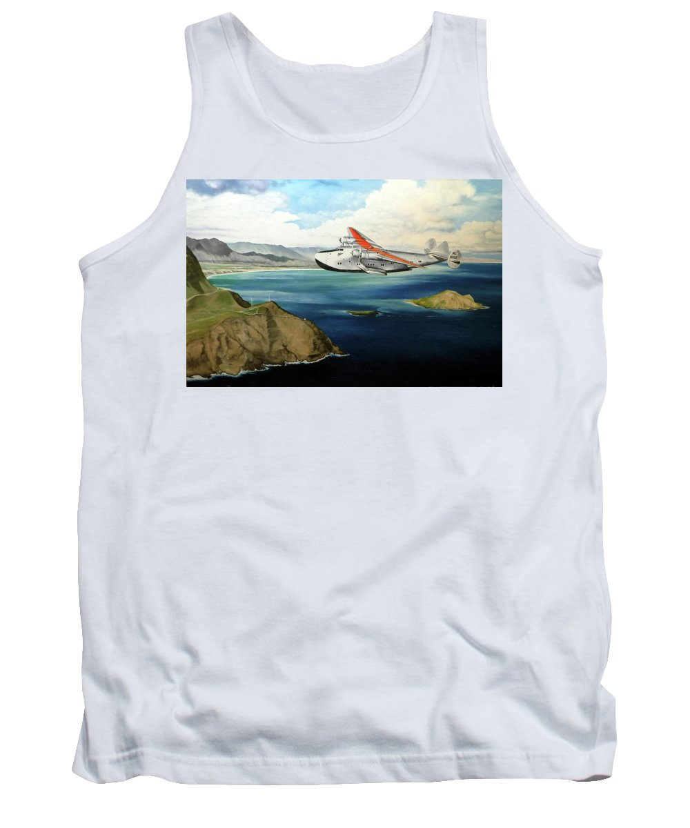 Clipper Tank Top featuring the painting Clipper at the Makapu'u Light by Marcus Stewart