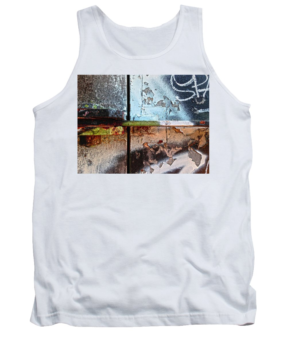 Decay Tank Top featuring the digital art Closed For Repairs by Dan Reich