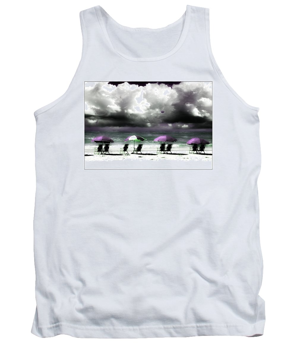 Beach Tank Top featuring the photograph Cloud Illusions by Mal Bray