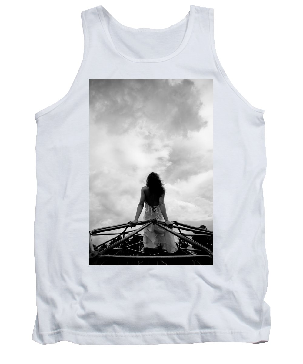 Woman Tank Top featuring the photograph Cloud Watching by Scott Sawyer