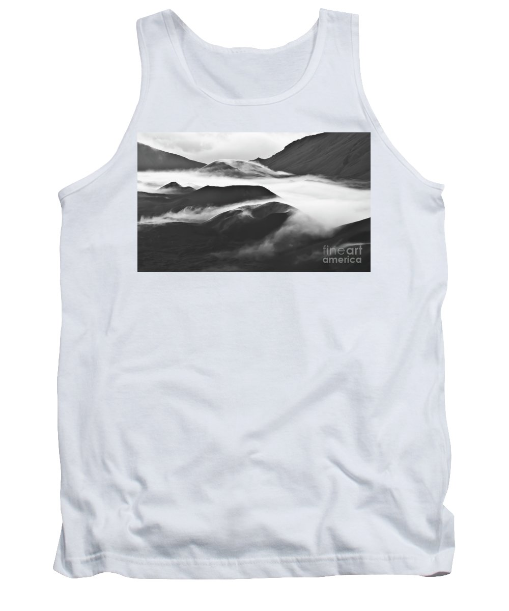 Mountains Tank Top featuring the photograph Maui Hawaii Haleakala National Park Clouds In Haleakala Crater by Jim Cazel