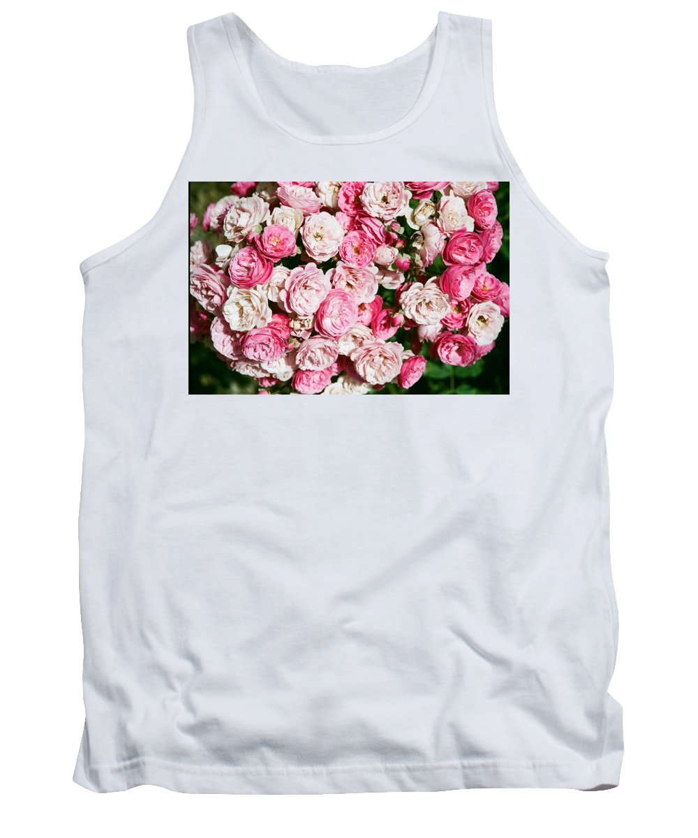 Rose Tank Top featuring the photograph Cluster of roses by Dean Triolo