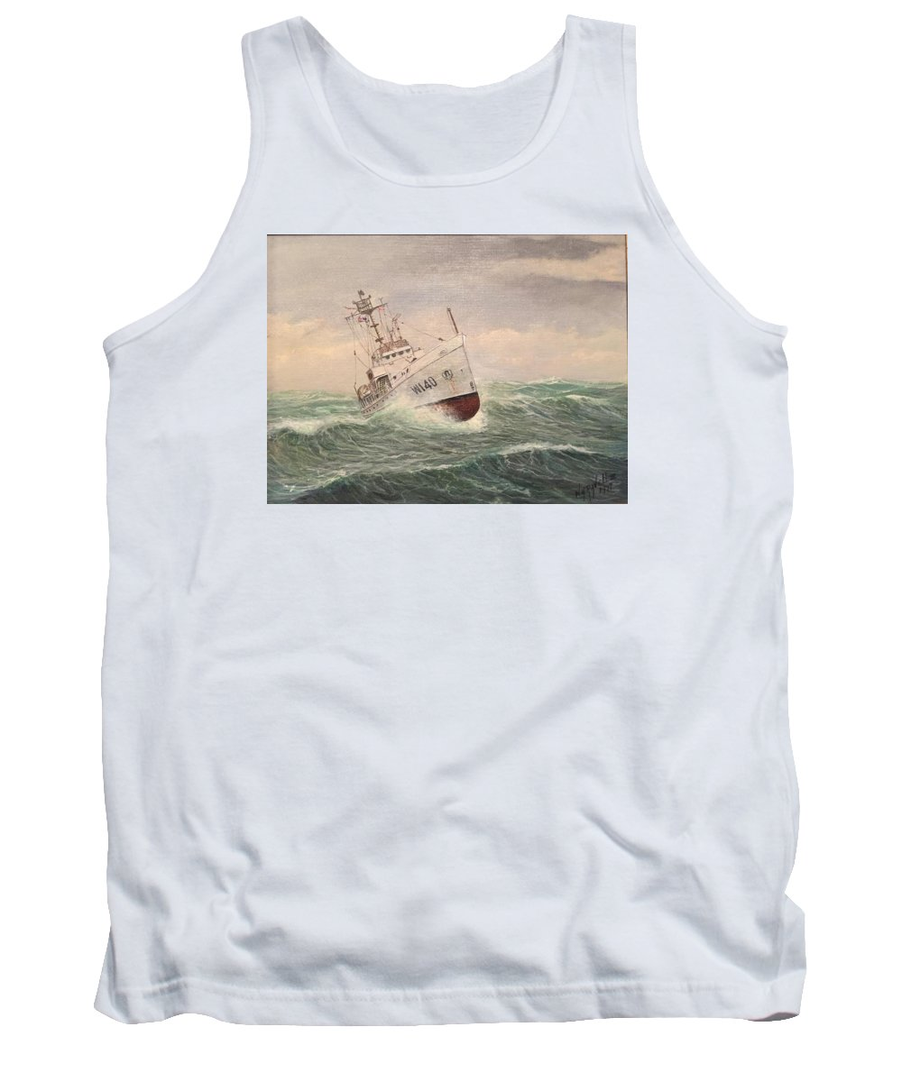 Coast Guard Painting Tank Top featuring the painting Coast Guard Cutter General Greene by William H RaVell III