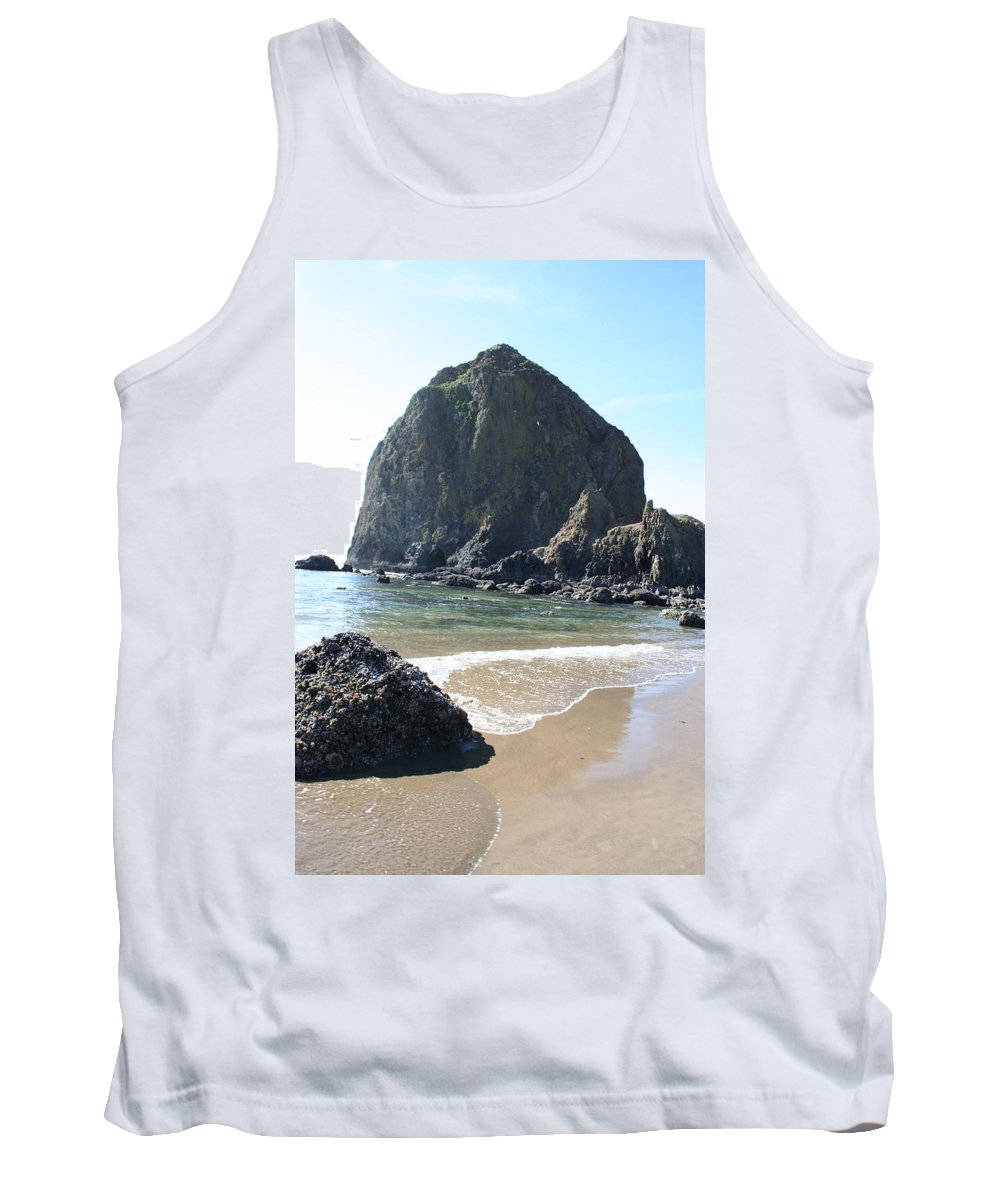 Coastal Landscape Tank Top featuring the photograph Coastal Landscape - Cannon Beach Afternoon - Scenic Lanscape by Quin Sweetman