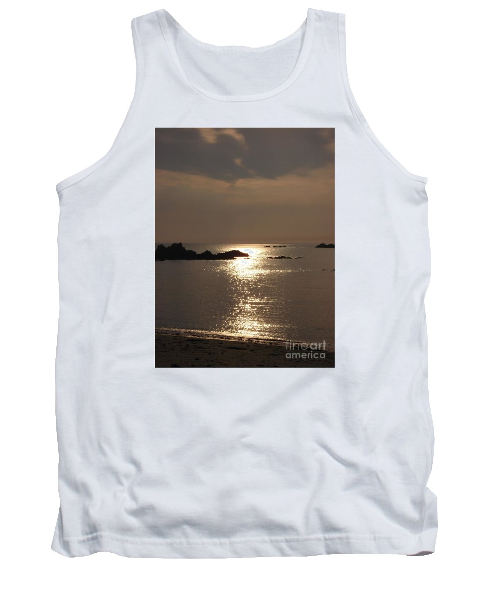 Cobo Tank Top featuring the photograph Cobo Sunlight Reflections by Quintin Rayer
