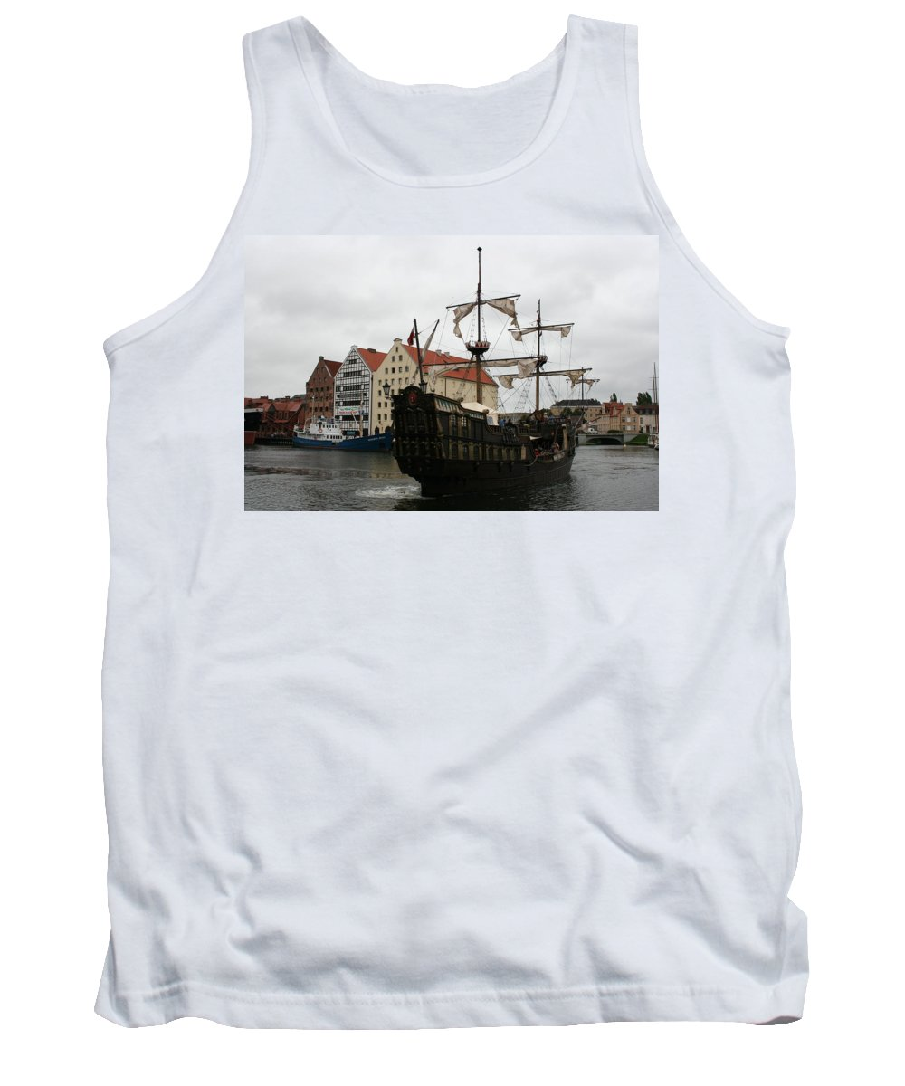 Ship Tank Top featuring the photograph Cog On Wotlawa River by Christiane Schulze Art And Photography