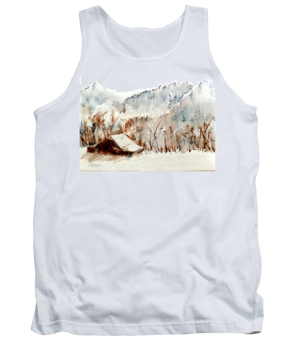 Cold Cove Tank Top featuring the mixed media Cold Cove by Seth Weaver