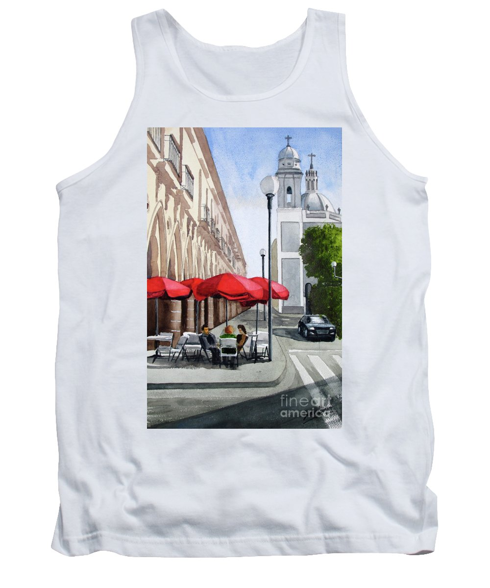 Mexico Tank Top featuring the painting Colima, Mexico by Barry Levy