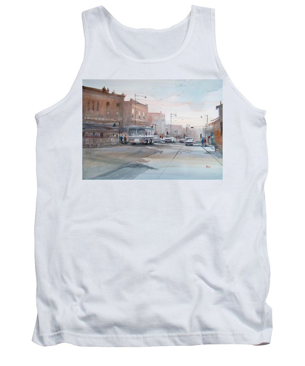 Ryan Radke Tank Top featuring the painting College Avenue - Appleton by Ryan Radke