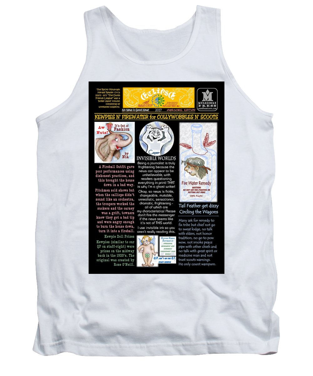 Comics Tank Top featuring the mixed media Collywobbles N Scoots by Dawn Sperry