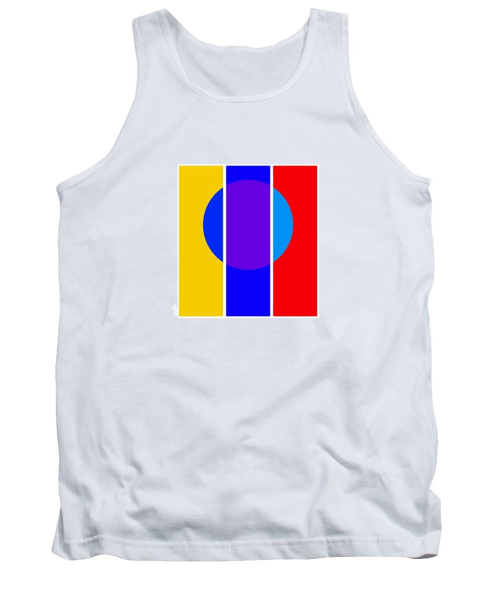 Primary Colors Tank Top featuring the painting Color And Form by Charles Stuart