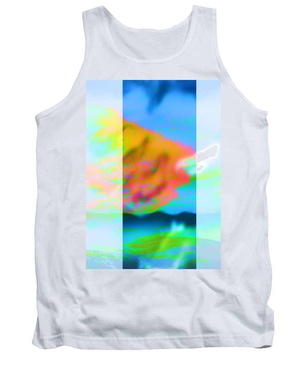 Color Tank Top featuring the digital art Color Wave by Are Lund