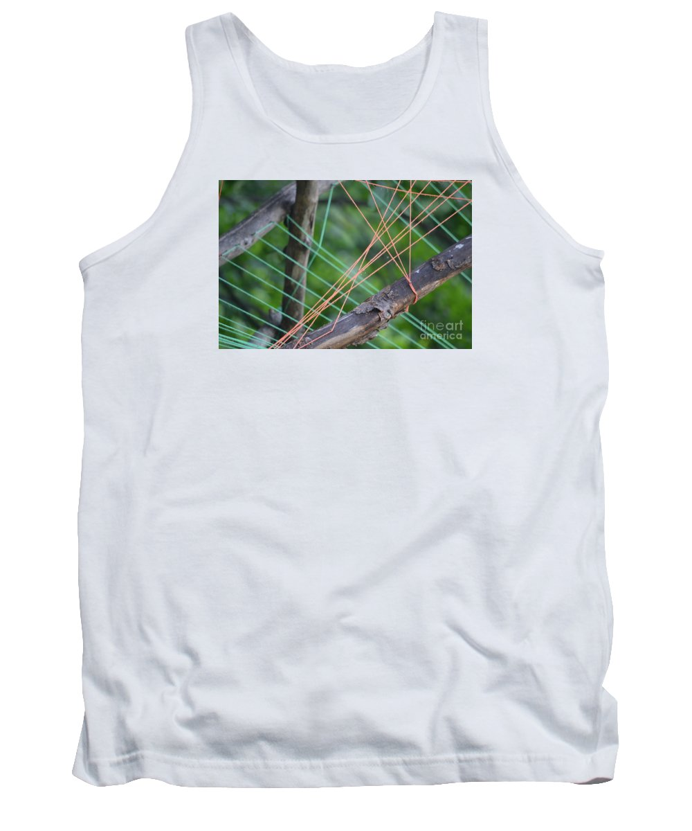 Colored Thread Tank Top featuring the photograph Colored Thread by Sonya Staneva