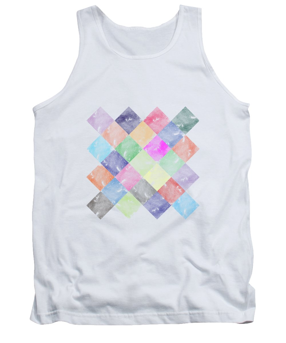 Wave Tank Top featuring the digital art Colorful Geometric Patterns IIi by Amir Faysal