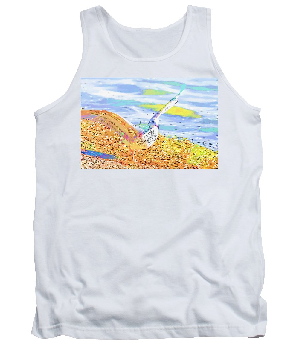 Seagull Tank Top featuring the photograph Colorful Seagull by Deborah Benoit