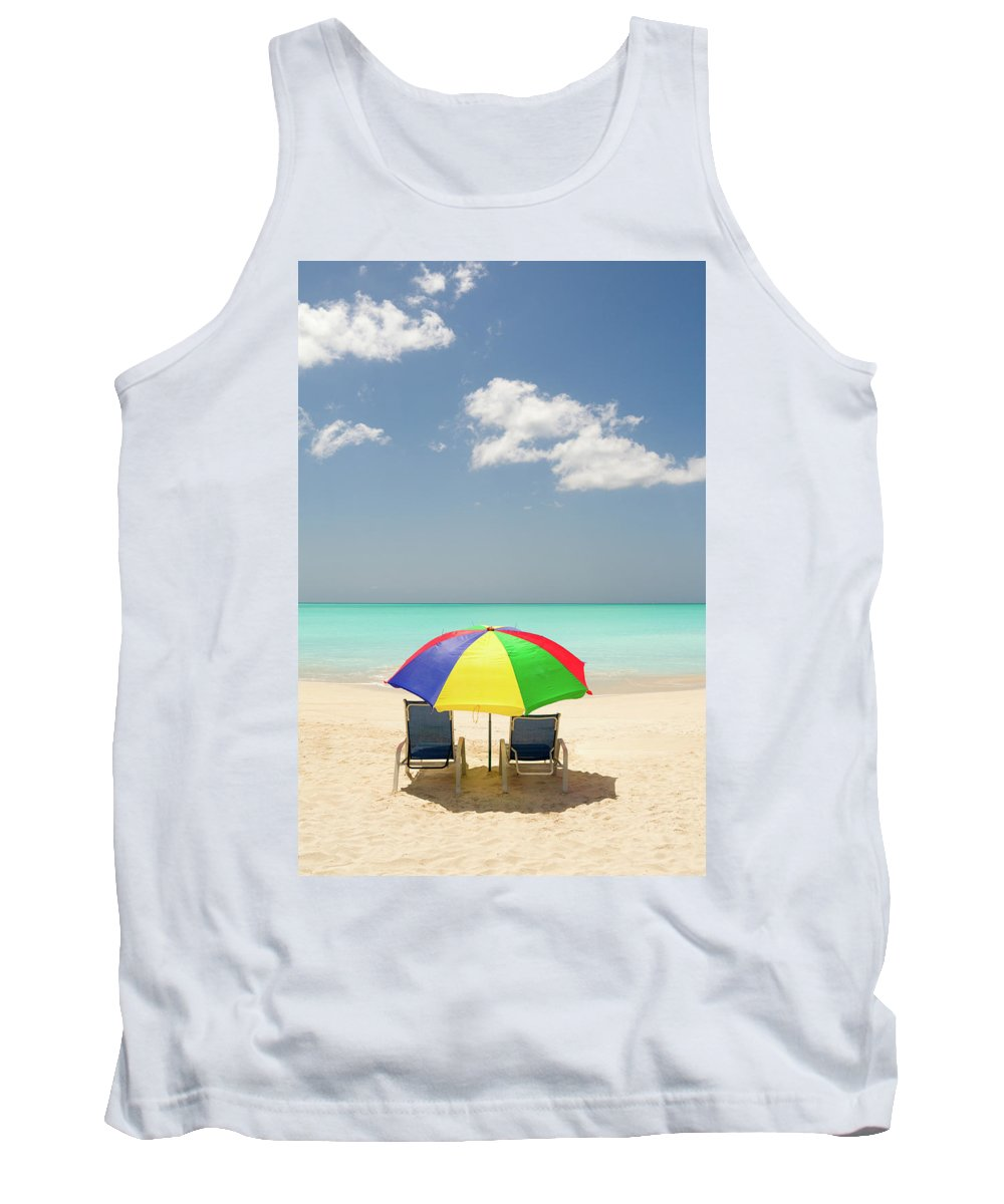 Antigua And Barbuda Tank Top featuring the photograph Colorful Shade by Ferry Zievinger
