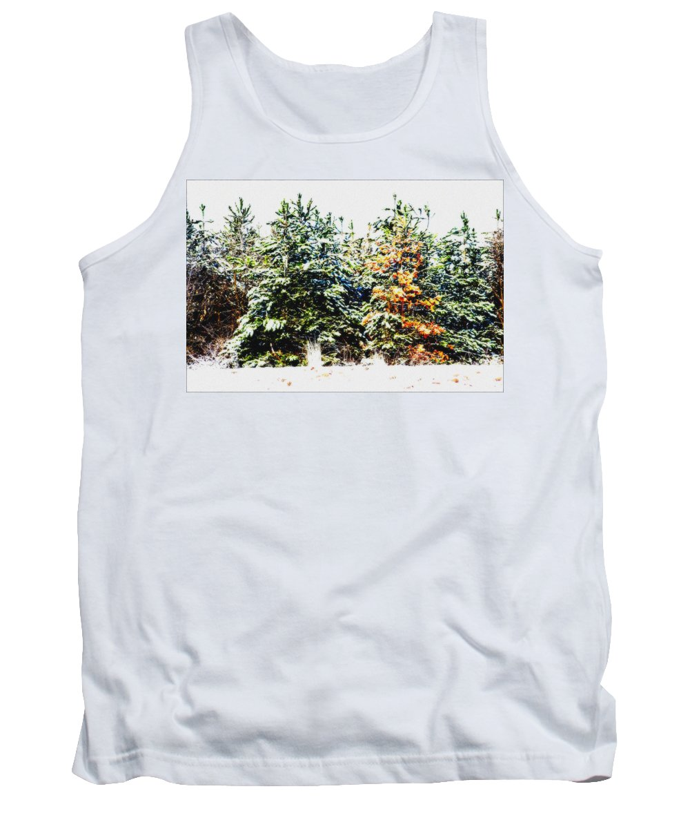 Tree Tank Top featuring the photograph Coloured Trees by Cliff Norton