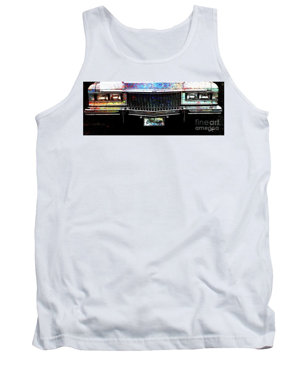 Tank Top featuring the mixed media Colourful Caddy by Callan Art
