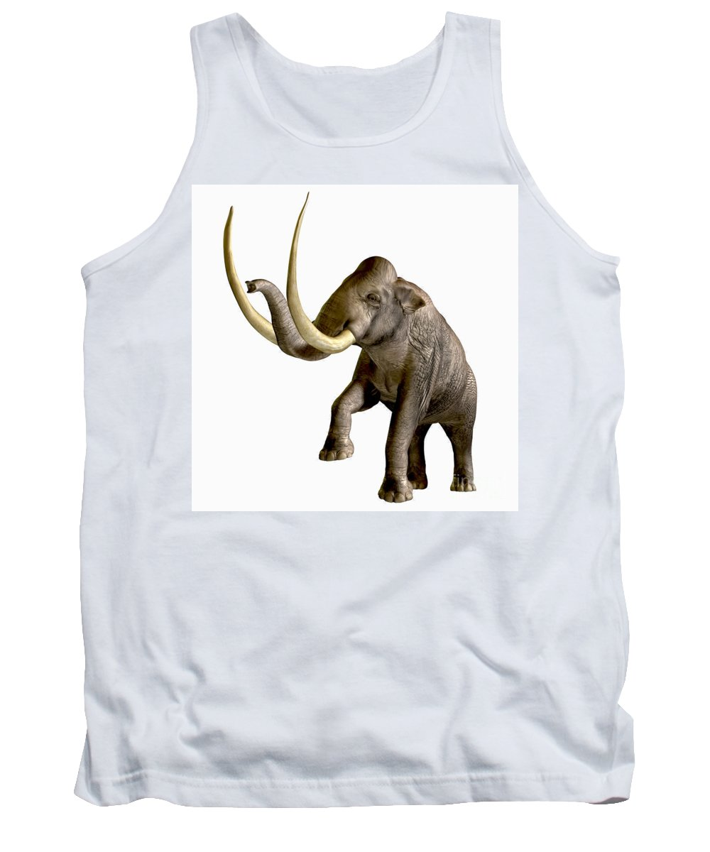 Columbian Mammoth Tank Top featuring the painting Columbian Mammoth by Corey Ford