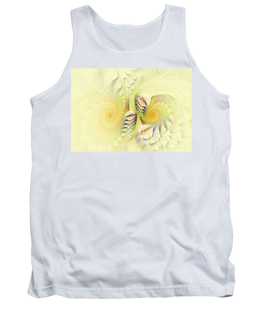 Fractal Tank Top featuring the digital art Come Dance With Me by Deborah Benoit
