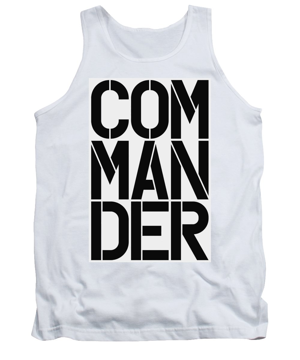 Tank Top featuring the painting Commander by Three Dots