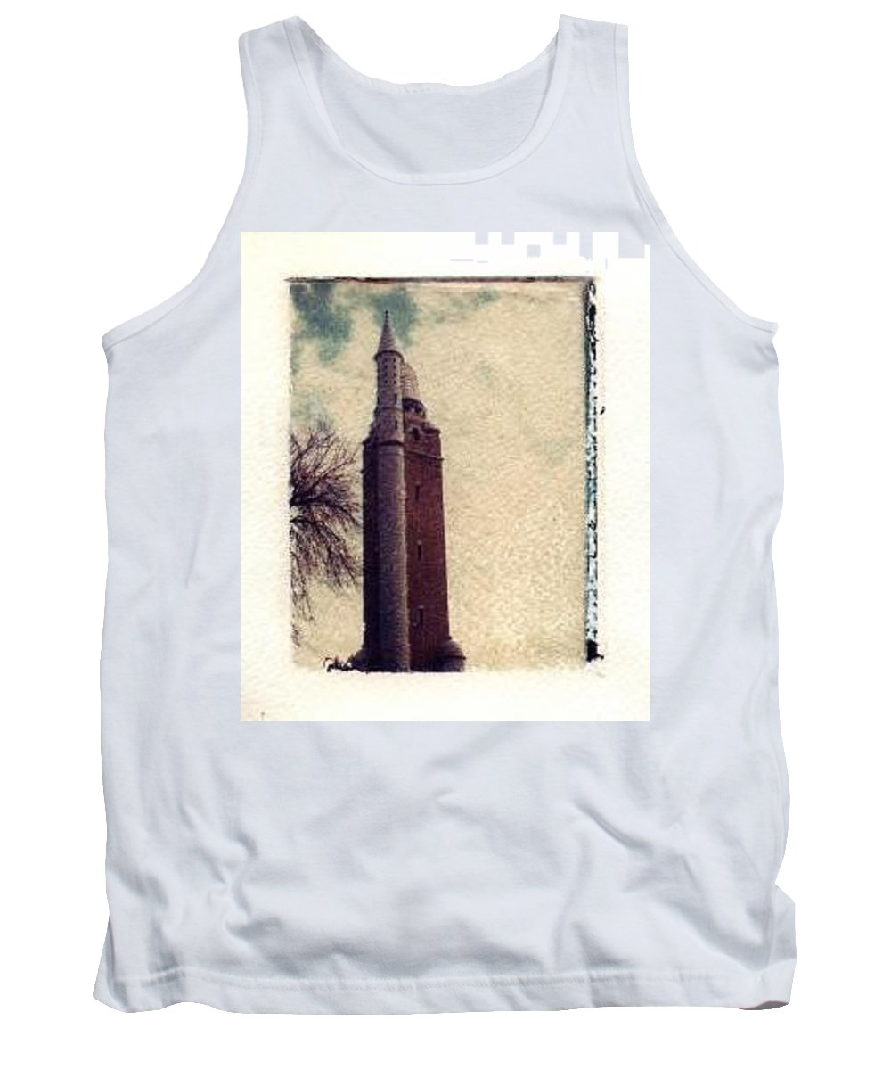 Polaroid Transfer Tank Top featuring the photograph Compton Water Tower by Jane Linders