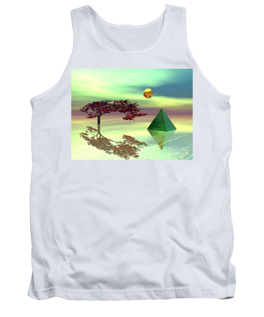 Fantasy Tank Top featuring the digital art Contemplative by Oscar Basurto Carbonell