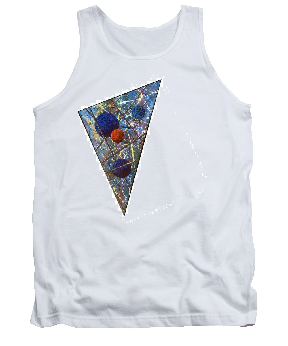 Abstract Tank Top featuring the painting Continuum 3 by Micah Guenther