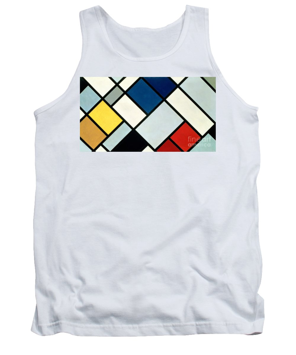 Contra-composition Tank Top featuring the painting Contracomposition Of Dissonances by Theo van Doesburg