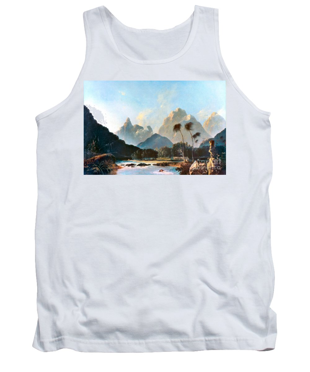 1773 Tank Top featuring the painting Cook: Tahiti, 1773 by Granger