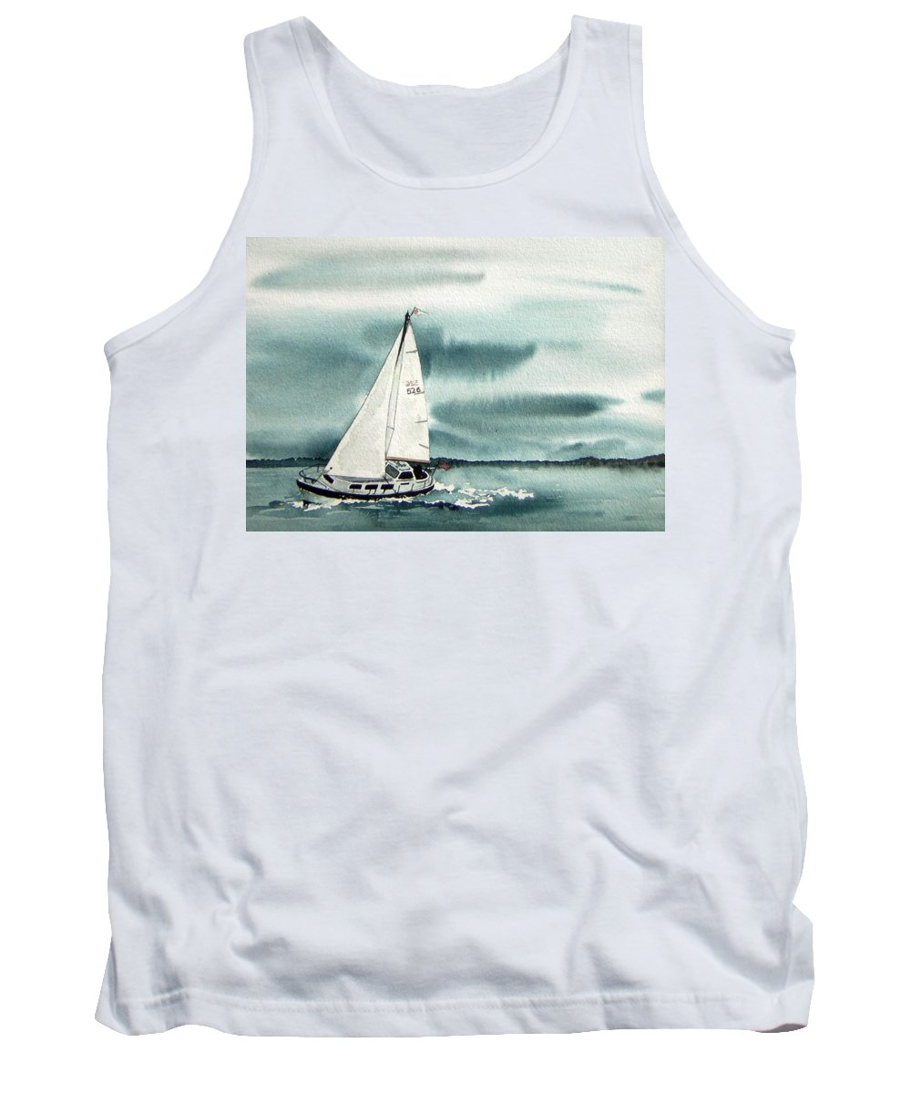 Sailing Tank Top featuring the painting Cool Sail by Gale Cochran-Smith