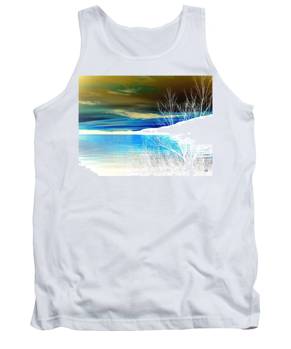 Winter Tank Top featuring the digital art Cool Waters by Will Borden