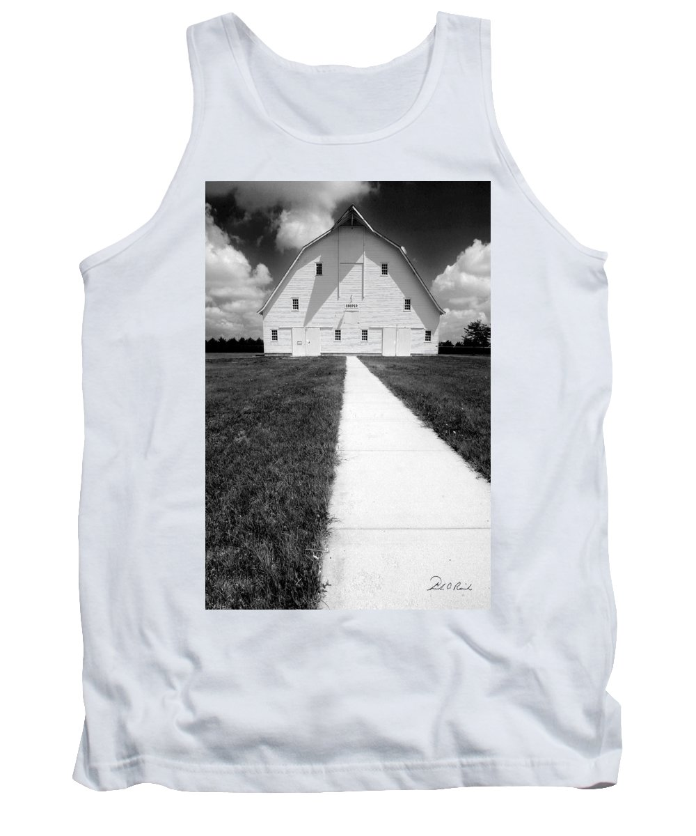 Photography Tank Top featuring the photograph Cooper Barn by Frederic A Reinecke
