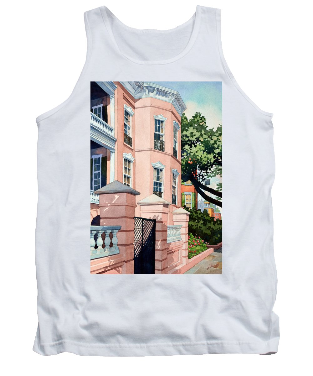 City Tank Top featuring the painting Coral by Mick Williams