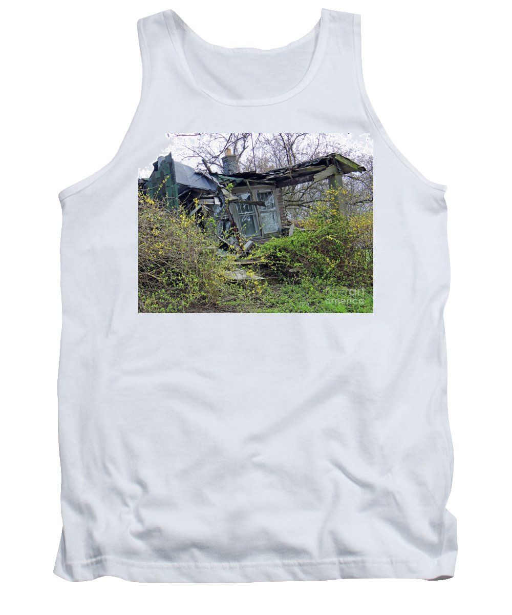 Abandoned Tank Top featuring the photograph Corner House by Steve Gass