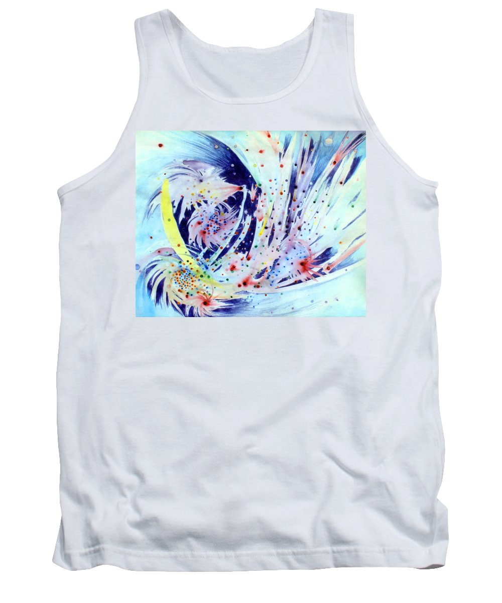 Abstract Tank Top featuring the painting Cosmic Candy by Steve Karol
