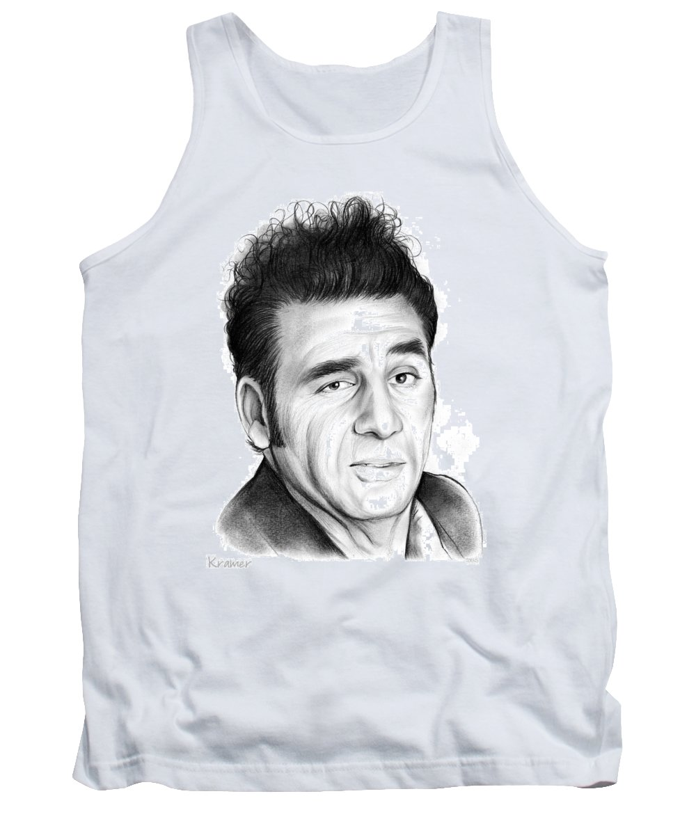 Michael Richards Tank Top featuring the drawing Cosmo Kramer by Greg Joens