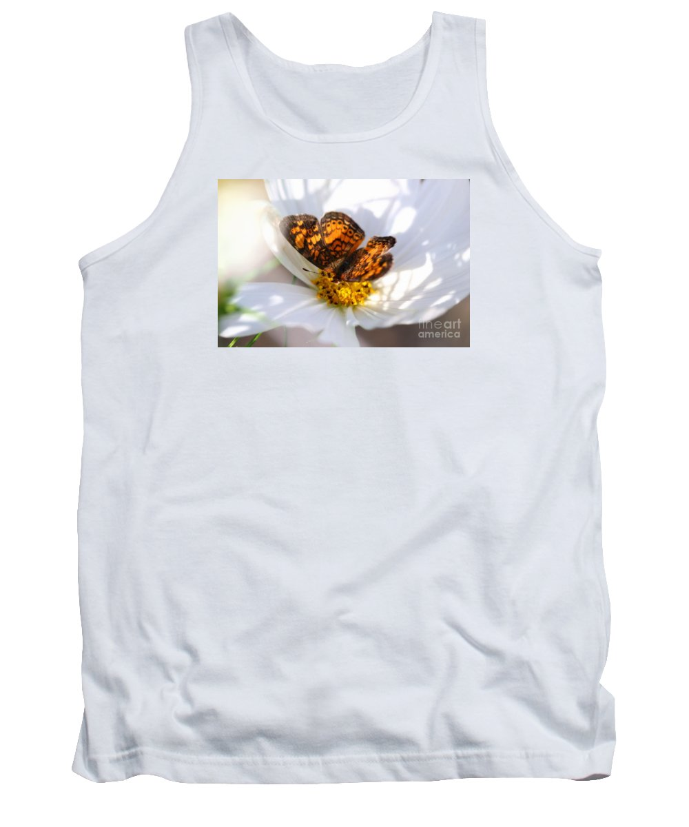 White Tank Top featuring the photograph Cosmo Visitor 2 by Angela Rath