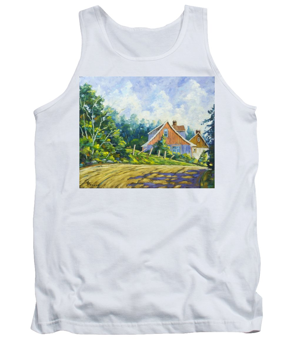 Art Tank Top featuring the painting Cote Ste Anne De Beaupre by Richard T Pranke